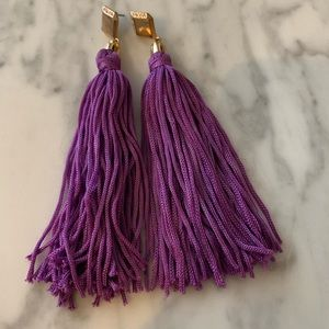 Ettika Purple Tassel Earrings